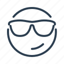 avatar, cool, emoticon, emotion, face, smiley, sunglasses icon