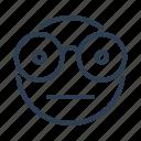 avatar, emoticon, emotion, geek, nerd, nerdy face, smiley