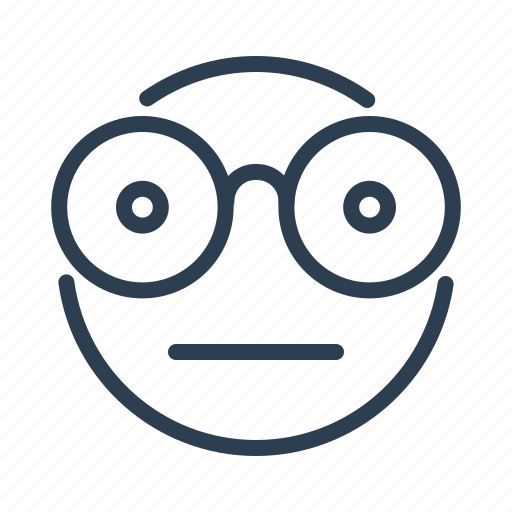 avatar, emoticon, emotion, geek, nerd, nerdy face, smiley icon
