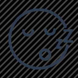 avatar, emoticon, emotion, face, sleep, smiley, zzz icon