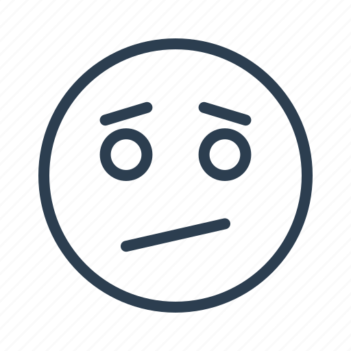 avatar, dull, emoticon, emotion, face, smiley, upset icon
