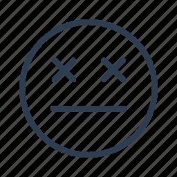 avatar, emoticon, emotion, eye sealed, face, sad, smiley icon