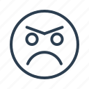 angry, avatar, emoticon, emotion, face, smiley, unhappy