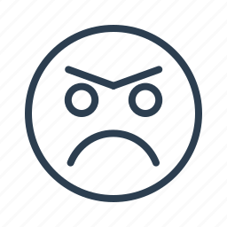angry, avatar, emoticon, emotion, face, smiley, unhappy icon