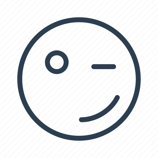 avatar, blink, emoticon, emotion, face, smiley, winking icon