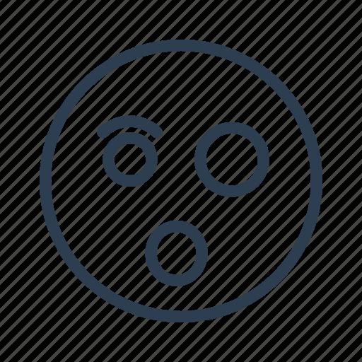 avatar, emoticon, emotion, face, shocked, smiley, surprised icon
