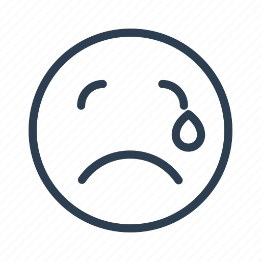 avatar, crying, emoticon, emotion, face, smiley, tear icon