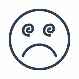 avatar, confused, emoticon, emotion, face, hypnotised, smiley icon