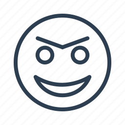 avatar, emoticon, emotion, evil, face, laugh, smiley icon