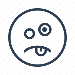 avatar, emoticon, emotion, face, smiley, stupid, tongue icon