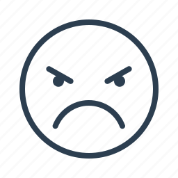 angry, avatar, emoticon, emotion, evil, face, smiley icon
