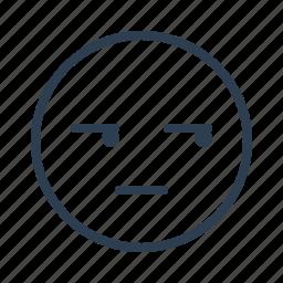 avatar, emoticon, emotion, face, mean, smiley, suspicious icon
