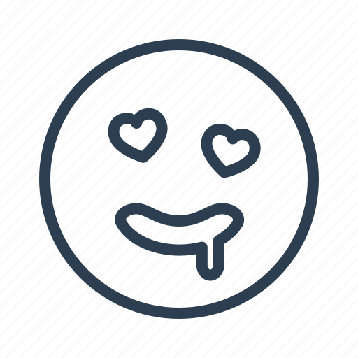 avatar, desire, emoticon, emotion, face, lust, smiley icon