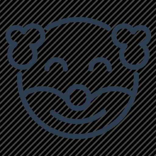 avatar, clown, emoticon, emotion, face, holiday, smiley icon