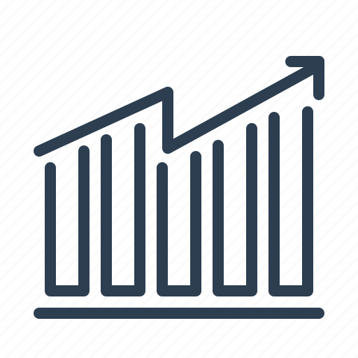 analytics, chart, earnings, growth, sales report, statistics, stats icon