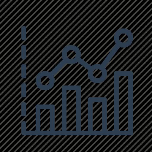 analytics, chart, earnings, sales report, statistics, stats, stock market icon