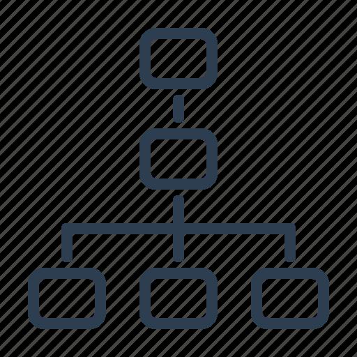 chart, diagram, hierachy, plan, scheme, structure, workflow icon