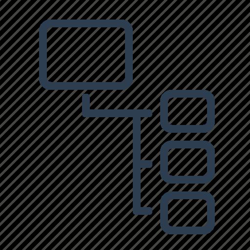 equal, flowchart, hierarchy, order, scheme, workflow icon