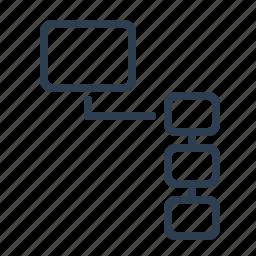 consistant, flowchart, hierarchy, order, scheme, workflow icon