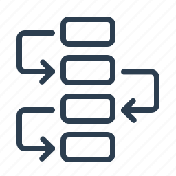 diagram, flowchart, management, planning, project plan, scheme, workflow icon