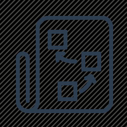 document, flowchart, page, planning, project plan, scheme, workflow icon