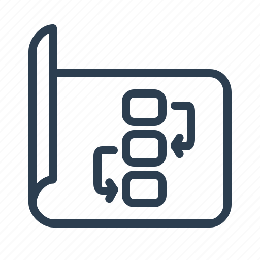 document, management, plan, planning, project, strategy, workflow icon