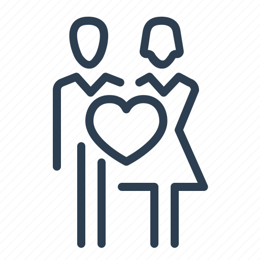 couple, heart, love, lovers, marriage, romantic, wedding icon