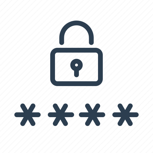 lock, locked, password, pin code, private, protection, security icon
