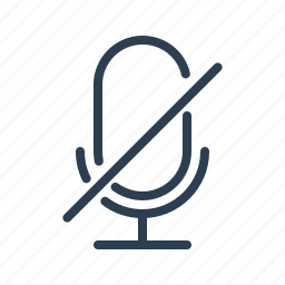 mic, microphone, multimedia, mute, on air, record, silence icon
