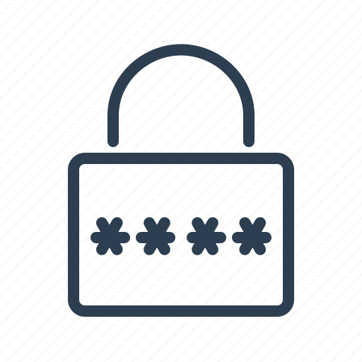 lock, locked, password, pin code, private, protected, secure icon