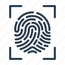 biometric, fingerprint, identification, scan, scanner, security, touch id