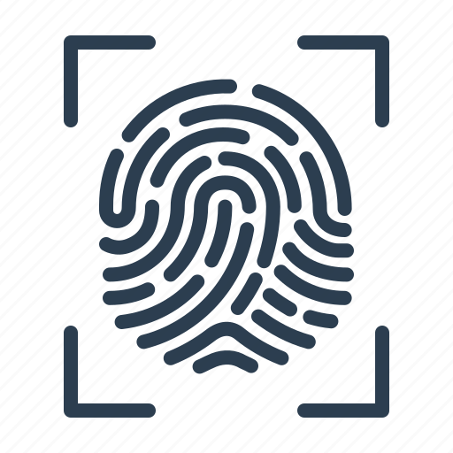 biometric, fingerprint, identification, scan, scanner, security, touch id icon