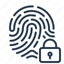 biometric, fingerprint, identification, lock, scan, security, touch id