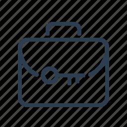 bag, case, key, locked, portfolio, private, secure icon
