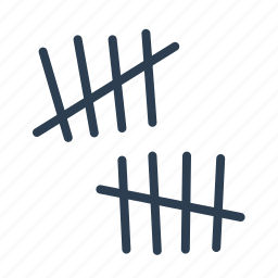 counting, counts, days, jail, prison wall, wall, week icon