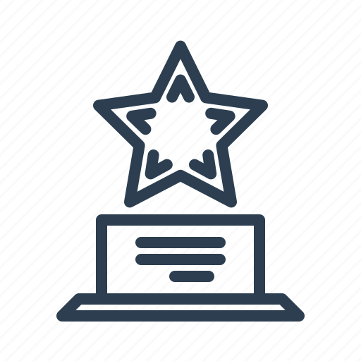 achievement, award, best, grant, premium, prize, star icon