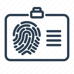 biometric, fingerprint, identification, pass, scan, security, touch id icon