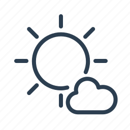 cloud, cloudy, day, partially, sun, sunny, weather icon