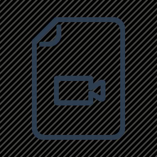 cam, camera, document, file, film, record, video icon