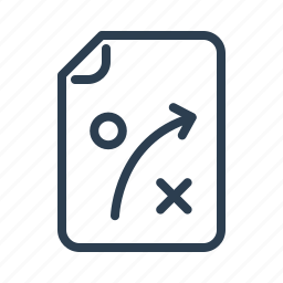 document, file, plan, planning, strategy, tactic, training icon