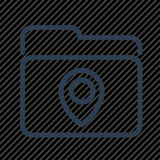 directory, folder, location, map, marker, navigation, pin icon