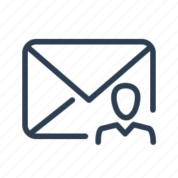 account, email, envelope, letter, mail, message, profile icon