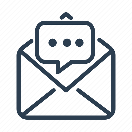 chat, comment, conversation, email, letter, mail, message bubble icon