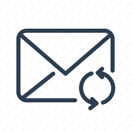 envelope, mail, message, refresh, sync, update icon