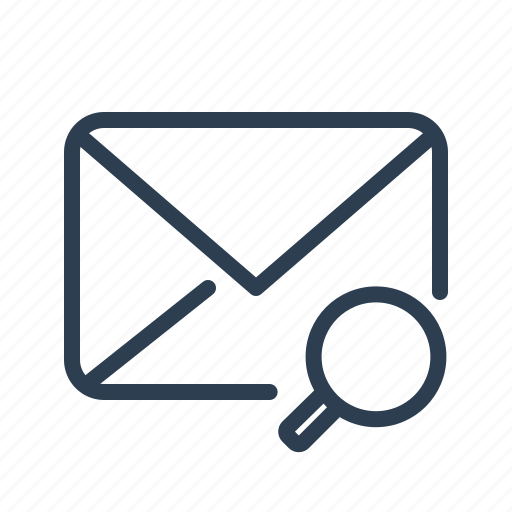 email, envelope, letter, magnifying glass, mail, message, search icon