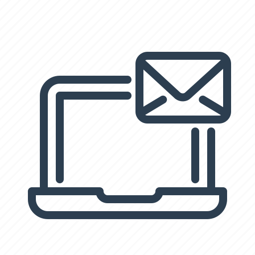 computer, email, envelope, laptop, mail, message, screen icon