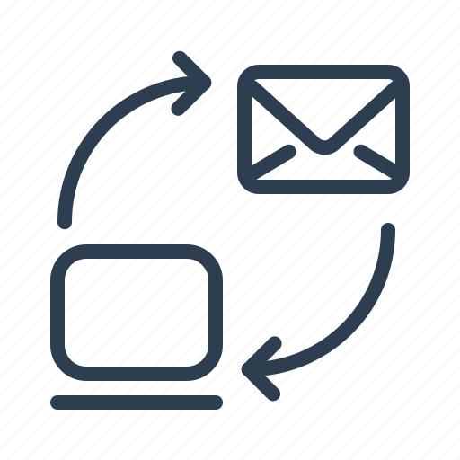 Communication, cycle, email, envelope, laptop, letters, mail icon - Download on Iconfinder