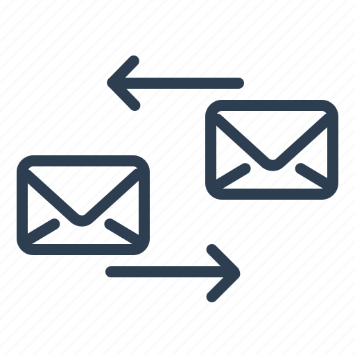 conversation, email, envelope, forward, mail, reply, send icon