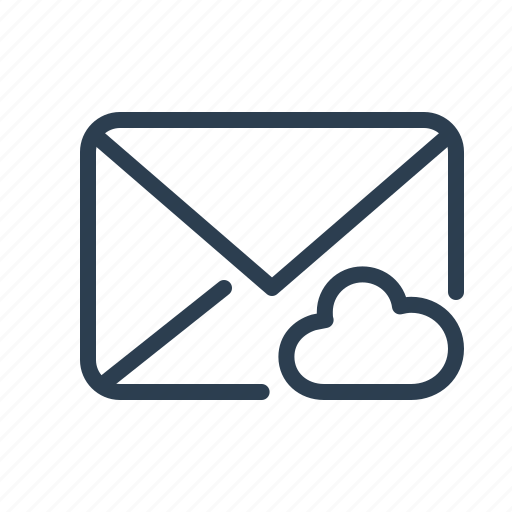 cloud, email, envelope, letter, mail, share, storage icon