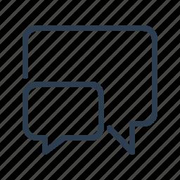 chat, comment, communication, dialogue, message bubble, messages, talk icon